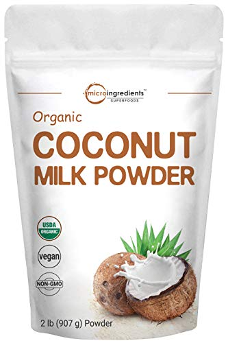 Micro Ingredients Organic Coconut Milk Powder, 2 Pound (32 Ounce), Plant-Based Creamer, Perfect for Coffee, Tea and…