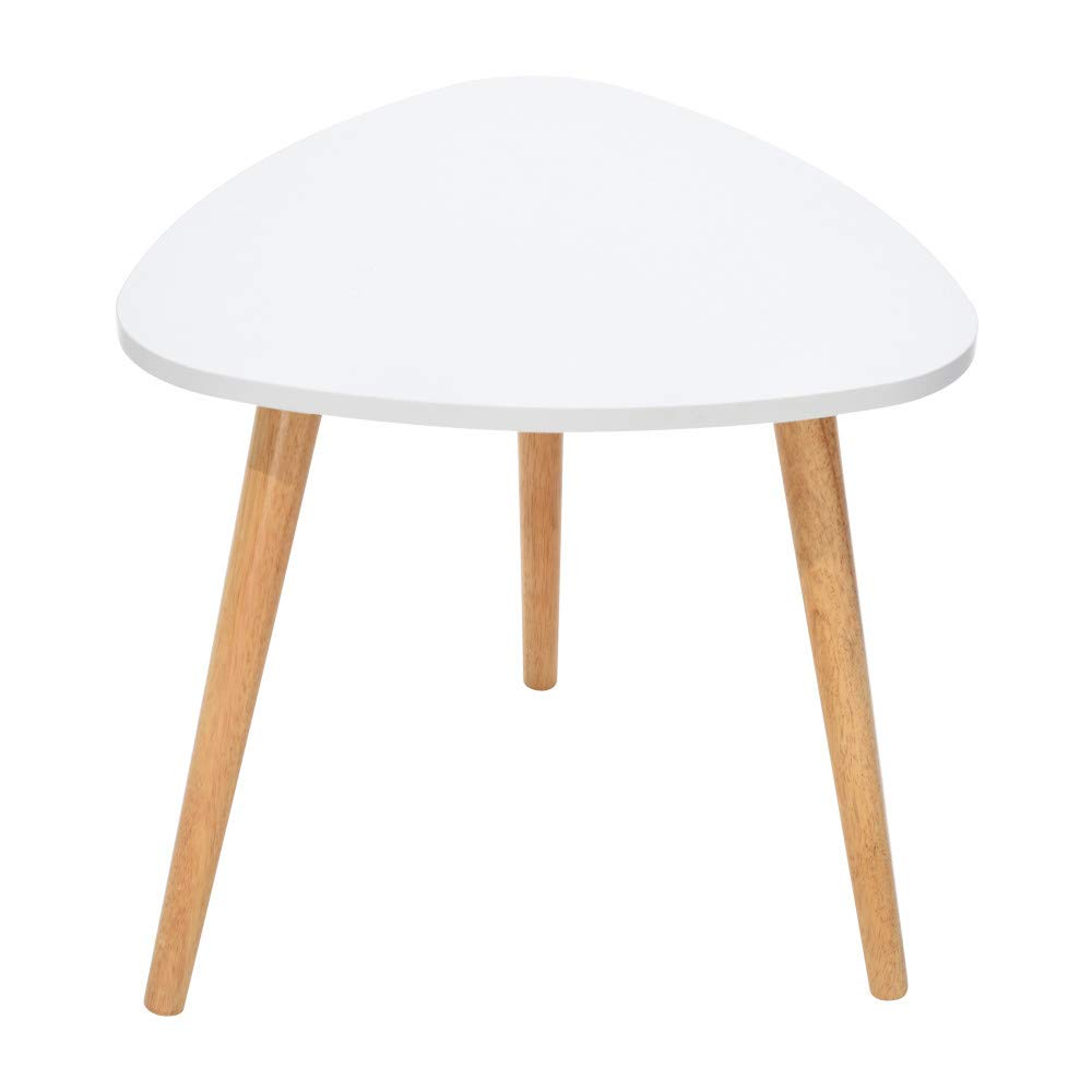 Iuhan  Nesting Coffee End Tables Modern Decor Side Table for Home and Office, Nordic Minimalist Modern Triangle Coffee Table 50×48cm/19.68×18.89 Inch White by Iuhan