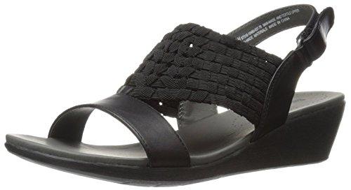 Sandalo Con Zeppa Marinn Nero Da Donna
