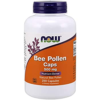 Amazon.com: NOW Bee Pollen, 500mg, 250 Capsules (Pack of 2