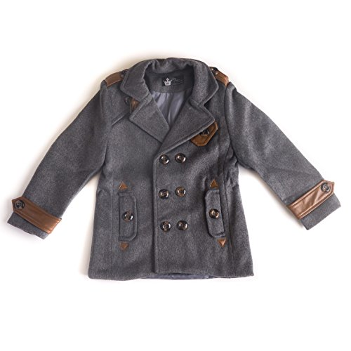 Littlest Prince Couture Infant/Toddler Wool Jacket in Gray, Size 9 (Couture Leather Jackets)