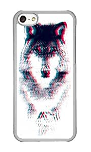 Apple Iphone 5C Case,WENJORS Unique Act like a wolf Hard Case Protective Shell Cell Phone Cover For Apple Iphone 5C - PC Transparent