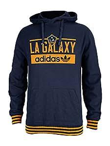Adidas La Galaxy Originals Big N Bold Pullover Hood Sz L