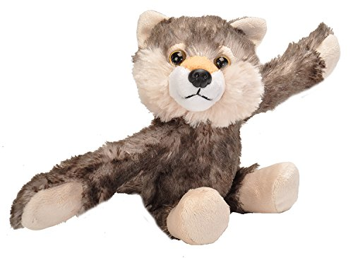 Wild Republic Huggers, Wolf Plush Toy, Slap Bracelet, Stuffed Animal, Kids Toys, 8 inches