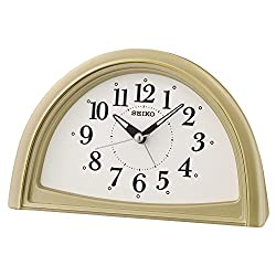 Seiko Analogue Beep Alarm Clock, 11.8 x 8.5 x 18.5 cm, Gold