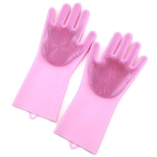 zhang-hongjun,Schutzhandschuhe für Silikagel-Reinigungsbürsten(Color:ROSA)