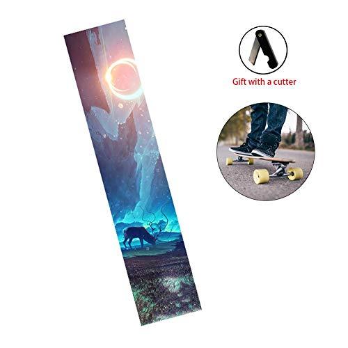 - Fovolat Skateboard Grip Tape Sheet, Waterproof, Scooter, Longboard Griptape, Sandpaper for Long Skateboard, Stairs, Pedal, Pistol,Wheelchair, Step 120x25cm 1pcs