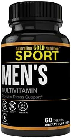 Premium Grade Daily Multivitamin Essentials for Men's Daily Multimineral/Multivitamin Supplement – Vitamins, Magnesium, Biotin, Spirulina, Zinc. Antioxidant for Heart & Immune Health.