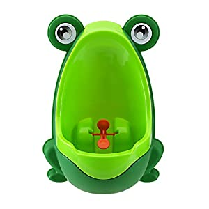 Eamall Lovely Frog Baby Toilet Training Children Potty Urinal Pee Trainer Urine For Boys with Funny Aiming Target (Green)