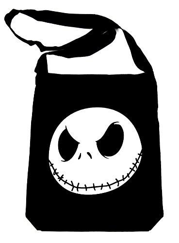 Jack Skellington Face Evil Grin Sling Bag Tote Nightmare Before Christmas Book Bag (Jack Skellington Tote Bag)