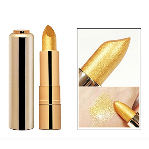 RNTOP Shimmer Gold Lipstick Glitter Pigment Metallic Lip Glo
