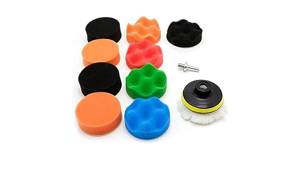 """11 Pcs 3//4//5//6//7/"""" Buffing Sponge Polishing Pad Kit Set For Car Polisher Buffer"""