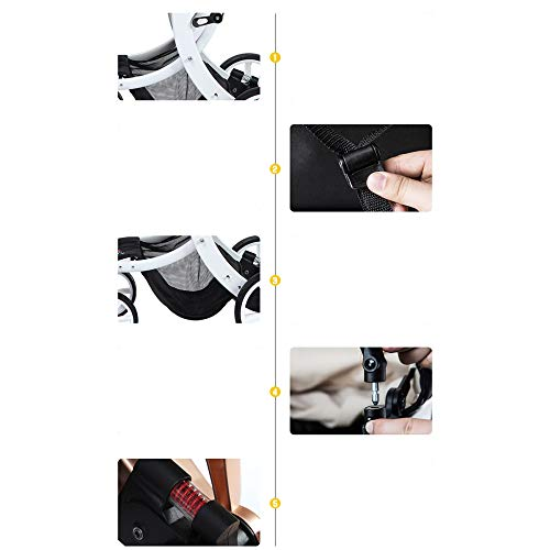 Wheels B Stroller Stroller high Hand Lockable Baby Two One Compact Landscape Pushchair way Fold Infant Folding vE414qRZw