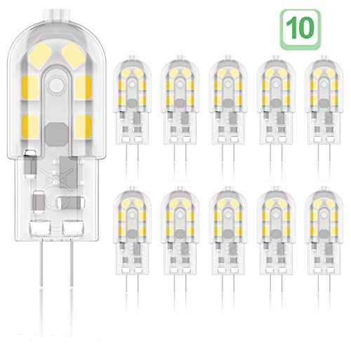 Phoenix-LED G4 LED-lampen, 2W Vervang 10W-25W halogeenlampen, flikkervrij, warm wit 3000K, AC / DC 12V, niet-dimbaar…