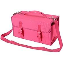 NIUTOP 120 Slots Marker Pen Case Markers Carrying Bag Holder for Primascolor Marker and Copic Sketch Marker, Permanent Paint Marker, Dry Erase Marker, Repair Marker Pen, Color Highlighter (Rose Red)