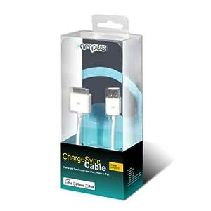 Campus CB-CH-IP-W - Cable de carga y sincronización para iPhone 4 y 4S (1 m), color blanco