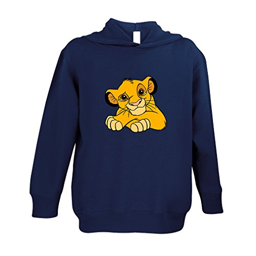 Baby Lion King Animals Toddler 60/40 Cotton/Polyester 100% Fleece Hoodie Pullover - Navy, 5/6T