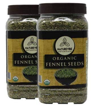 Naturevibe Botanicals Organic Fennel seeds, 2 lbs (2 packs of 1 lb each), Foeniculum Vulgare | Gluten Free & Non-GMO | Supports Digestive System | Adds Flavor and Relieves Bloating ()
