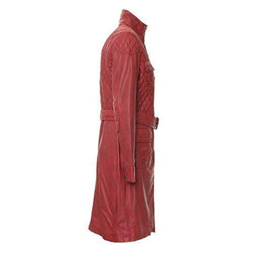 """Mantel """"Oslo"""" von MaraMahr aus weichem Lammleder für Damen in rot"""