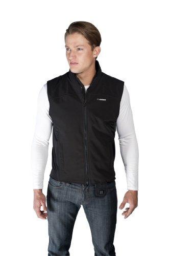 (VentureHeat Quad-Zone Heated Soft Shell Motorcycle Vest (Black, X-Large) by Venture Heat)