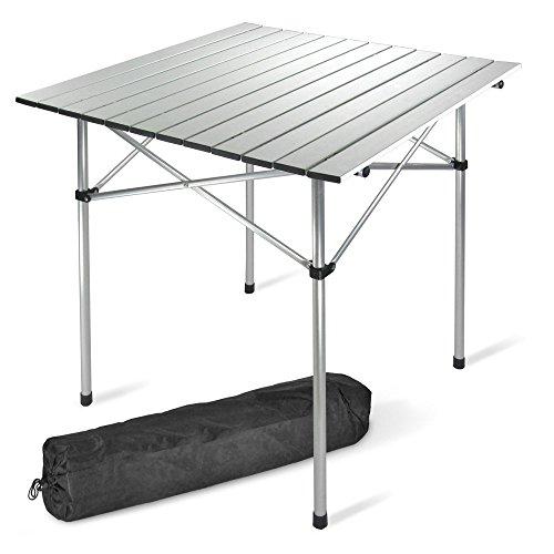 Campingtisch-Tisch-70-x-70-cm-Alu-nur-24-kg-Klapptisch-Rolltisch-inkl-Tragetasche
