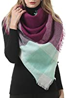 Gnpolo Blanket Scarf for Women Men Winter Thick Travel Chunky Warm Wrap Shawl Tartan Scarves