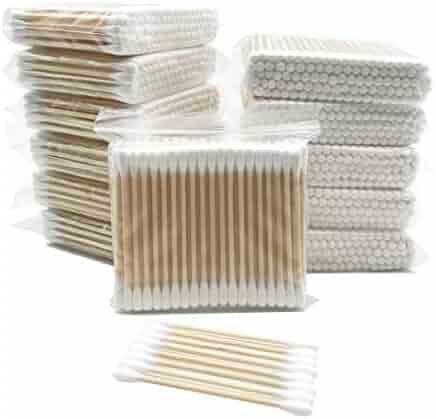 1200pcs Organic Wooden Stick Cotton Swab/Eco Friendly Biodegradable Cotton Bud