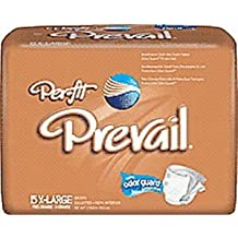 """Prevail Per-Fit Adult Brief X-Large 59"""" - 64"""" (4 Pack of 15)"""