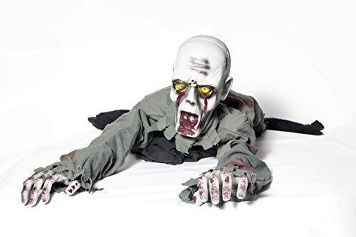 Halloween Decorations – Motion Sensor – Crawling Zombie (Scary Outdoor Halloween Decorations)