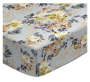SheetWorld Fitted Pack N Play Sheet Fits Graco 27 x 39 - Modern Floral Garden Gray - Made in USA by SHEETWORLD.COM