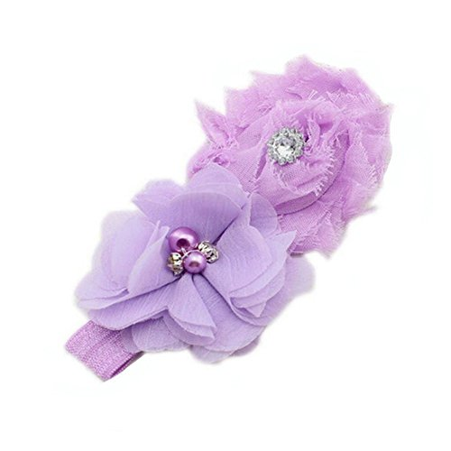 Yonger Baby Pearl Flowers Hairband Cute Headbands Lace Infant Hair Weave Accessories