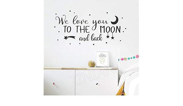 yiyiyaya Etiqueta de la Pared de Love Quote Te Amamos A LA ...