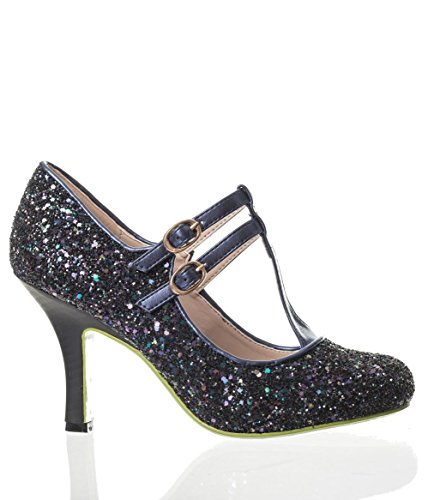Sparkly Shoes Retro Sound Apparel Vision Banned Heels Dark and 80s Glitter Xwq8IXSy