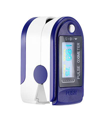 Finger Digital Pulse Oximeter Blood Oxygen Saturation Monitor Heart Rate Monitor SPO2 Health Monitors Portable Oxygen…