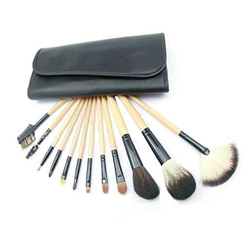Garrelett Makeup Brush Set, 12 Pcs of Set Professional Eyebrow Pencil Lip Liner Cosmetic Brushes Tools with Soft Case - Mall White Mash