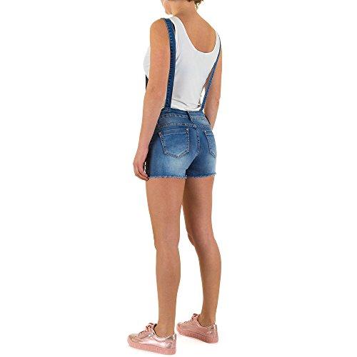 Destroyed Jeans Latz Shorts Für Damen , Blau In Gr. 36 bei Ital-Design