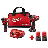 Milwaukee M12 FUEL 12-Volt Lithium-Ion Brushless Cordless Combo Kit (2-Tool) With Two Free M12 1.5Ah Batteries -  Milwaukee M12 Tool Set
