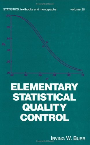 Elementary Statistical Quality Control, First Edition (Statistics:  A Series of Textbooks and Monographs) -