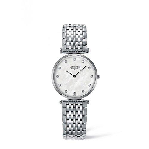 Longines L45124876 - Reloj de Cuarzo para Mujer, con Correa de Acero Inoxidable, Color Plateado: Amazon.es: Relojes