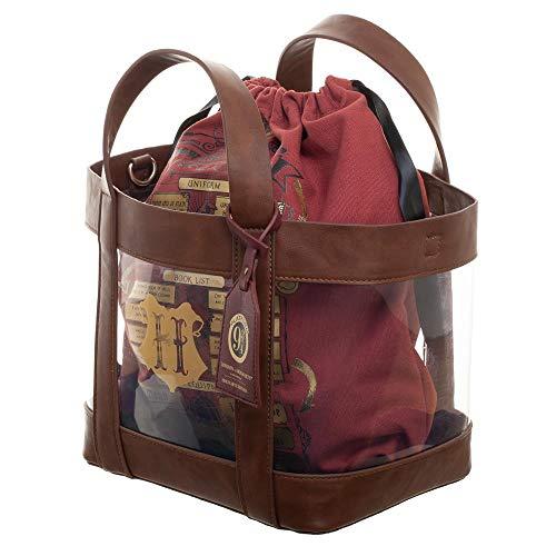 Harry Potter Hogwarts Clear Tote w/Cinch Bag