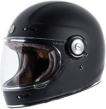 GZM Full Face Helmet TORC T-1 Retro Vintage Black Matte Flat Black Approved ECE DOT Biker Motorcycle Size M