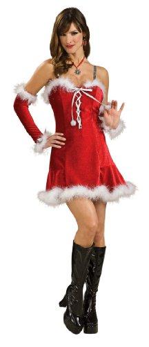 Secret Wishes Santa's Babydoll Dress, Red, Large