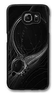 Abstract Lines Polycarbonate Hard Case Cover for Samsung S6/Samsung Galaxy S6 Black