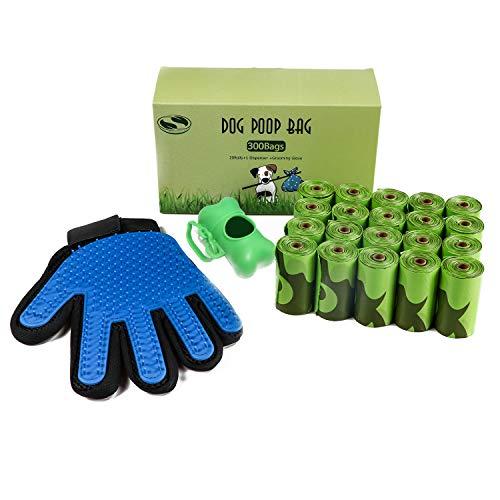 - JBT Global Dog Poop Bag | Biodegradable Poop Bags | Eco Friendly Dog Waste Bag Dispenser | Environmentally Friendly Grooming Glove | Green Poop Bags for Dogs Anti-Leak Dog Poop Bags
