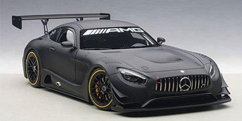 Price comparison product image Mercedes AMG GT3 Plain Color Version Matt Black 1 / 18 by Autoart 81532