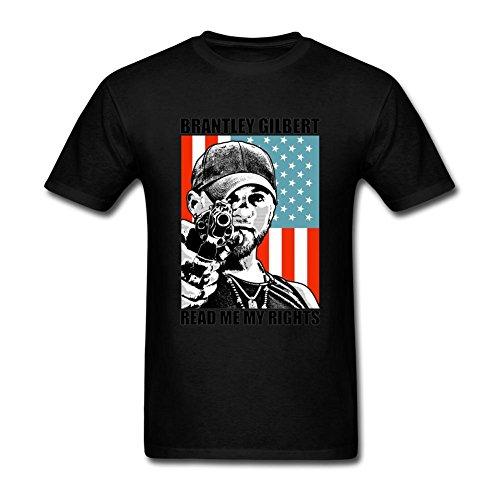 JUDIAN Brantley Gilbert Banner Read Me My Rights T Shirt for Men S