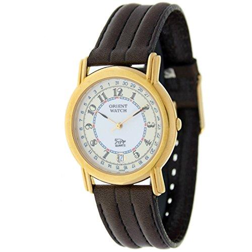 Orient Watch B-67rk-5-2 Reloj Analogico Unisex Caja De Dorado Esfera Color Beige: Amazon.es: Relojes
