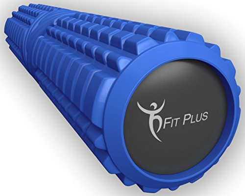 FitPlus Foam Roller, Premium Epe Foam Roller - Extra Firm With 10 Year Warranty Free Online VIDEO AND E-BOOK INSTRUCTION GUIDE High Density Foam Rollers For back,legs (6 x 13)