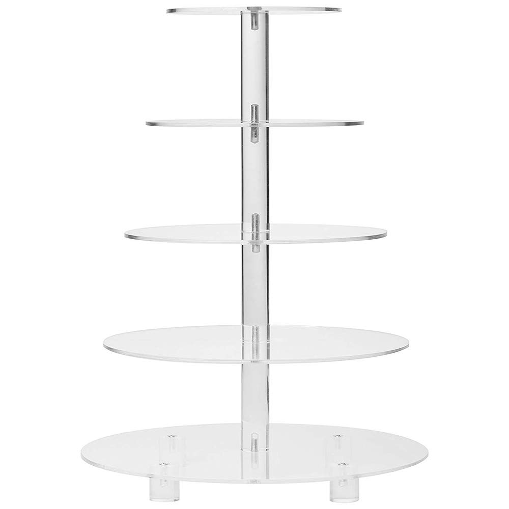THE HUA Cake Stand, 5 Tier Cupcake Stand Acrylic Cupcake Holder for Cupcake Party Birthday Wedding Engagement Christmas