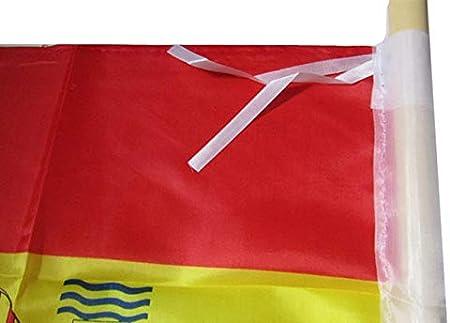Bandera DE ESPAÑA 150X90 CM Adaptada para MASTIL ESPAÑOLA Grande Spain Calidad: Amazon.es: Jardín